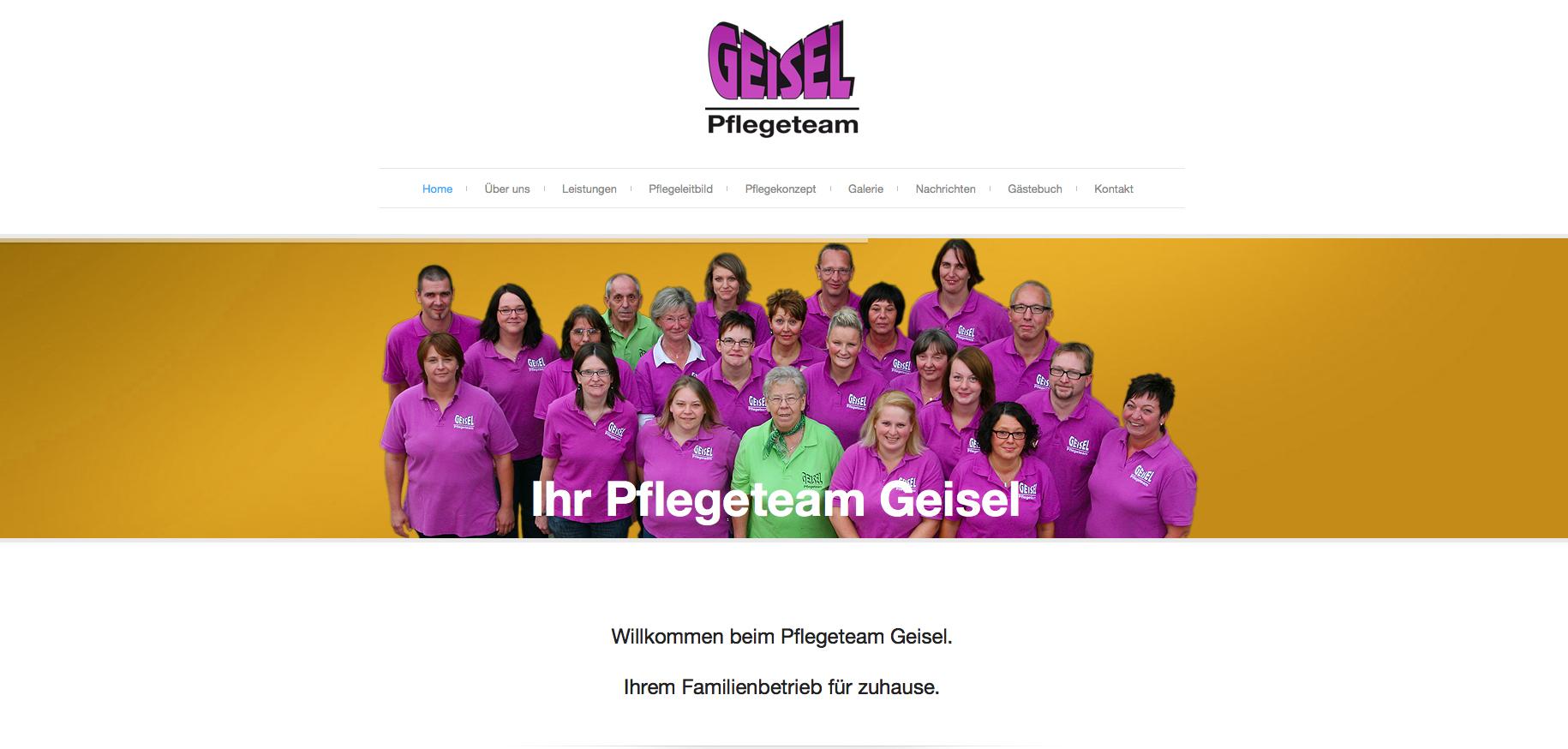 Relaunch Webseite Pflegeteam Geisel Frielendorf
