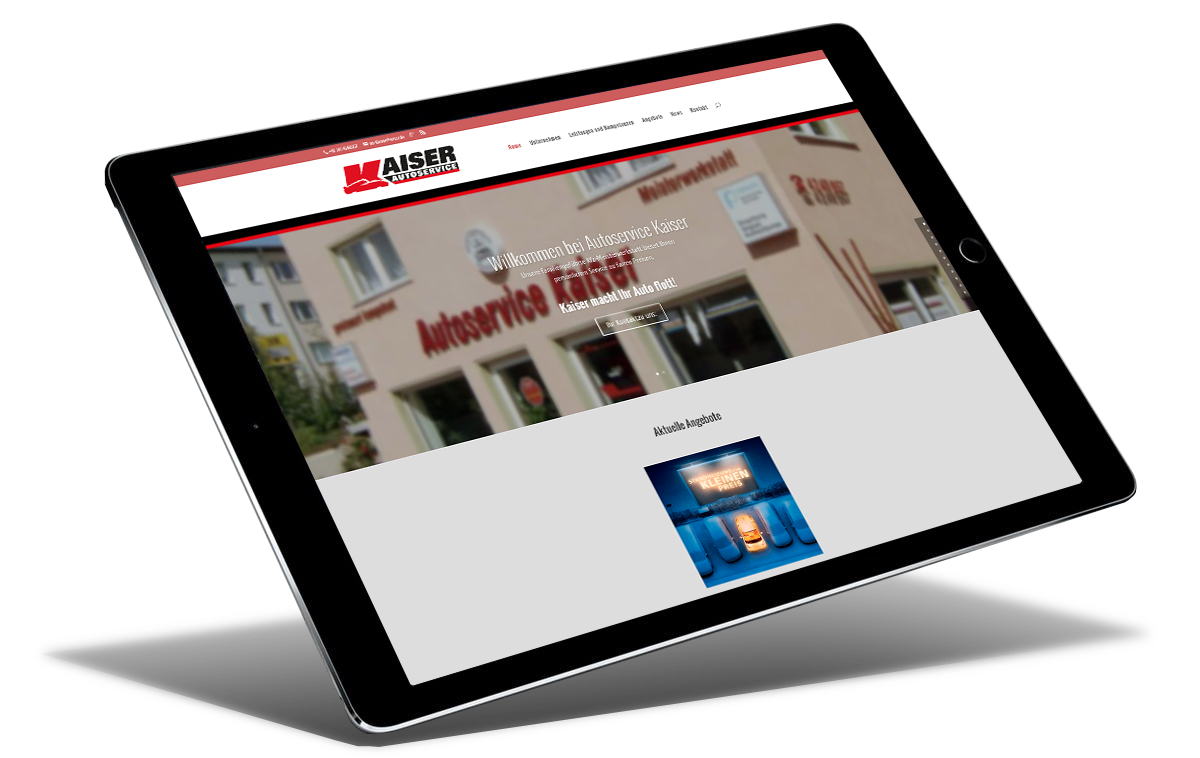 Internetauftritt Autoservice Kaiser Leipzig by Reichelt Kommunikationsberatung