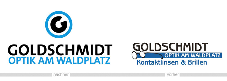 Relaunch Logo Goldschmidt Optik