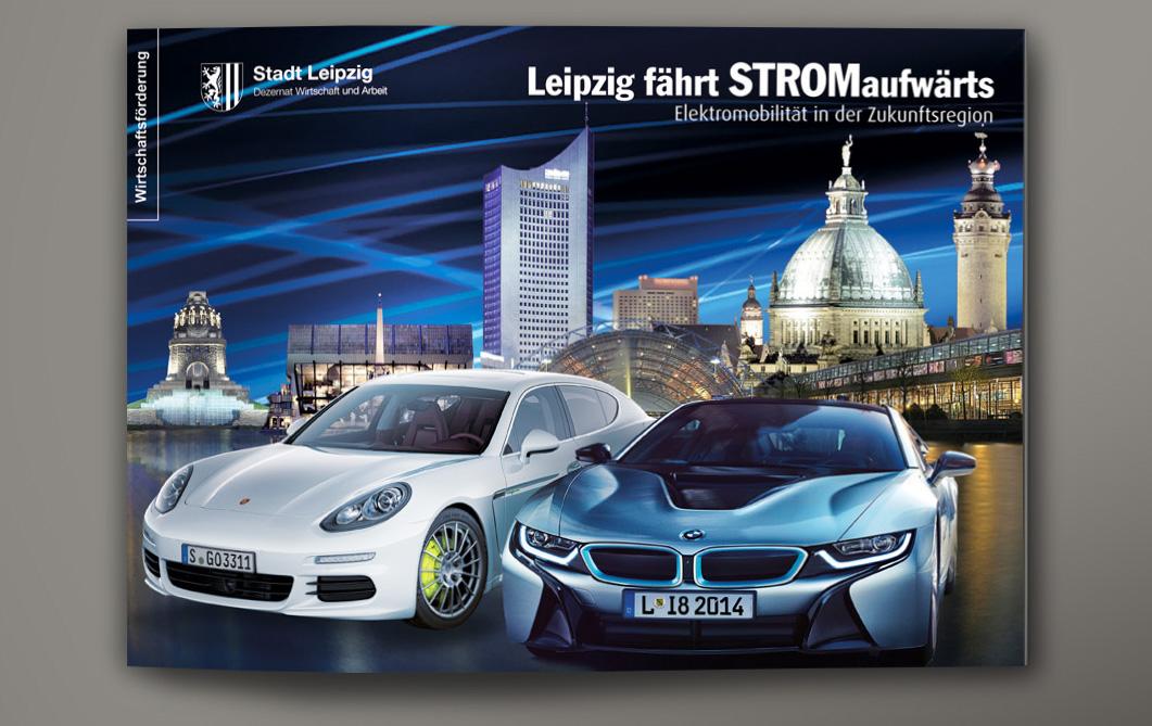 Imagebroschüre Elektromobilitätshauptstadt Leipzig