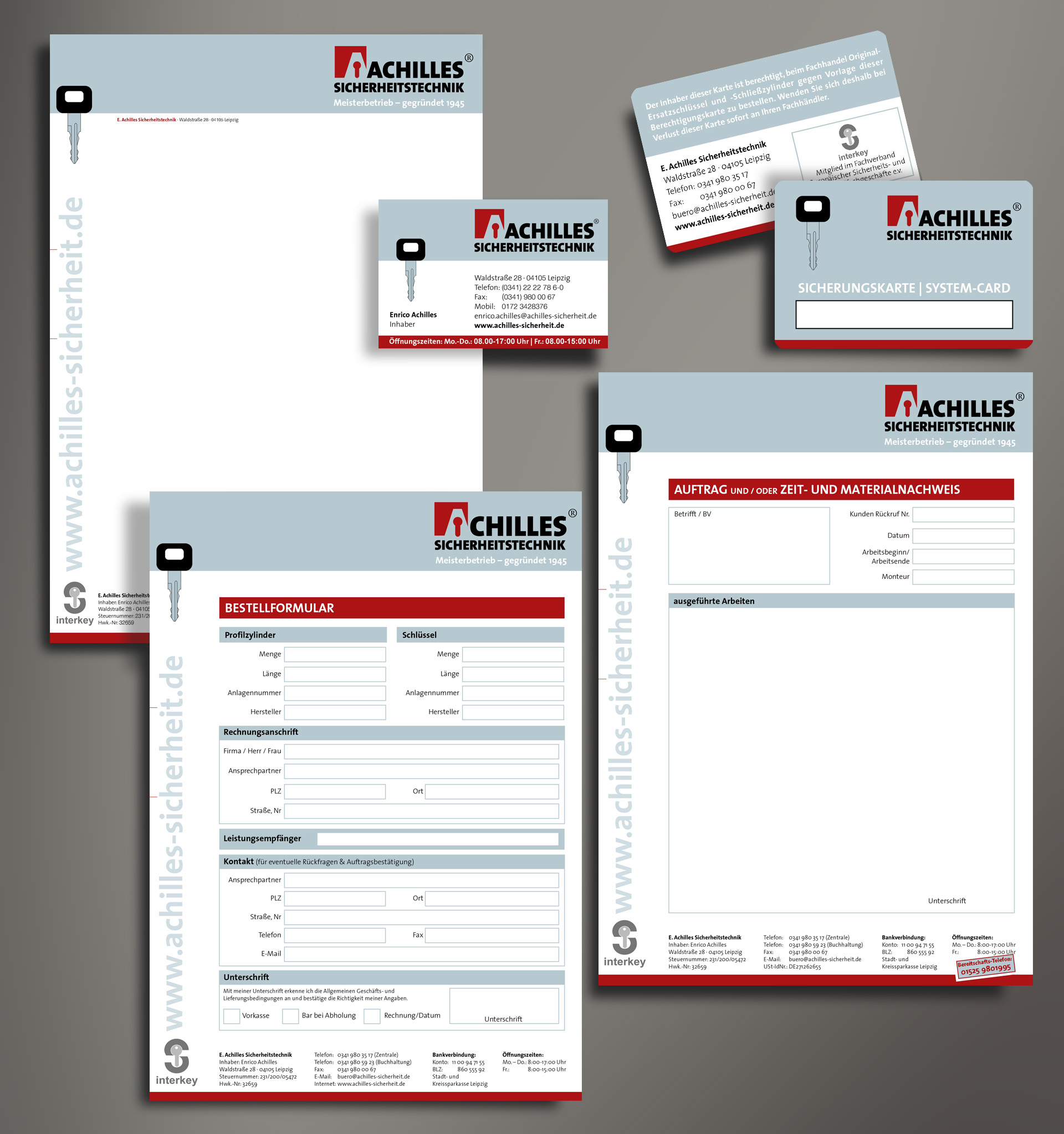 Corporate Design Achilles Sicherheitstechnik Reichelt