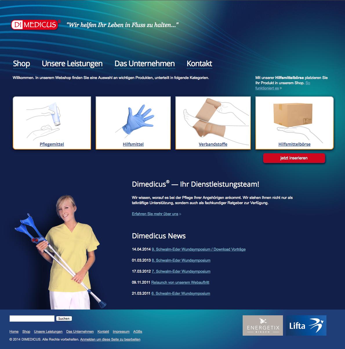 Onlineshop dimedicus24.de