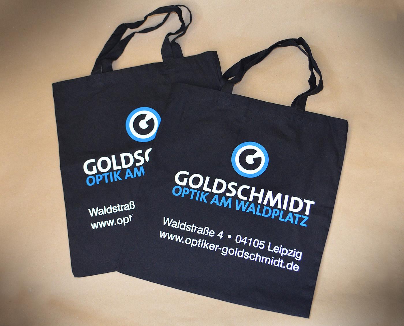 Goldschmidt Optik Einkaufstaschen im Corporate Design