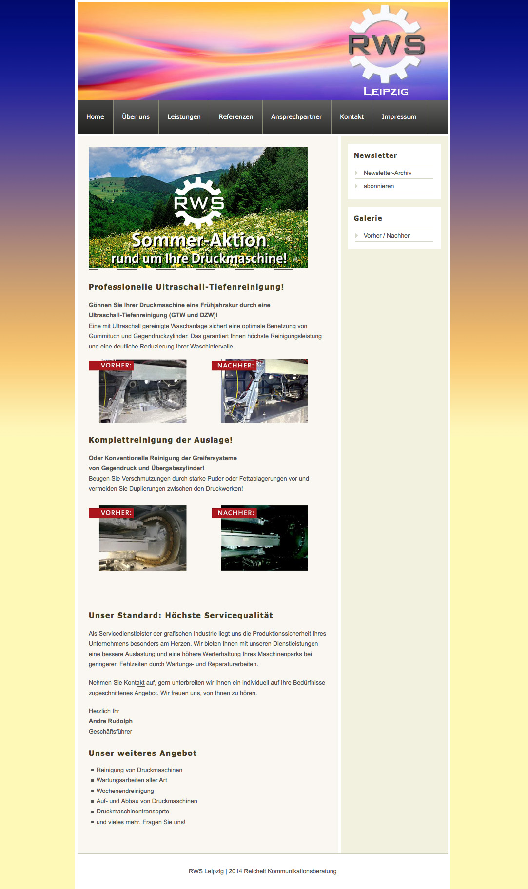 RWS Leipzig Internetauftritt