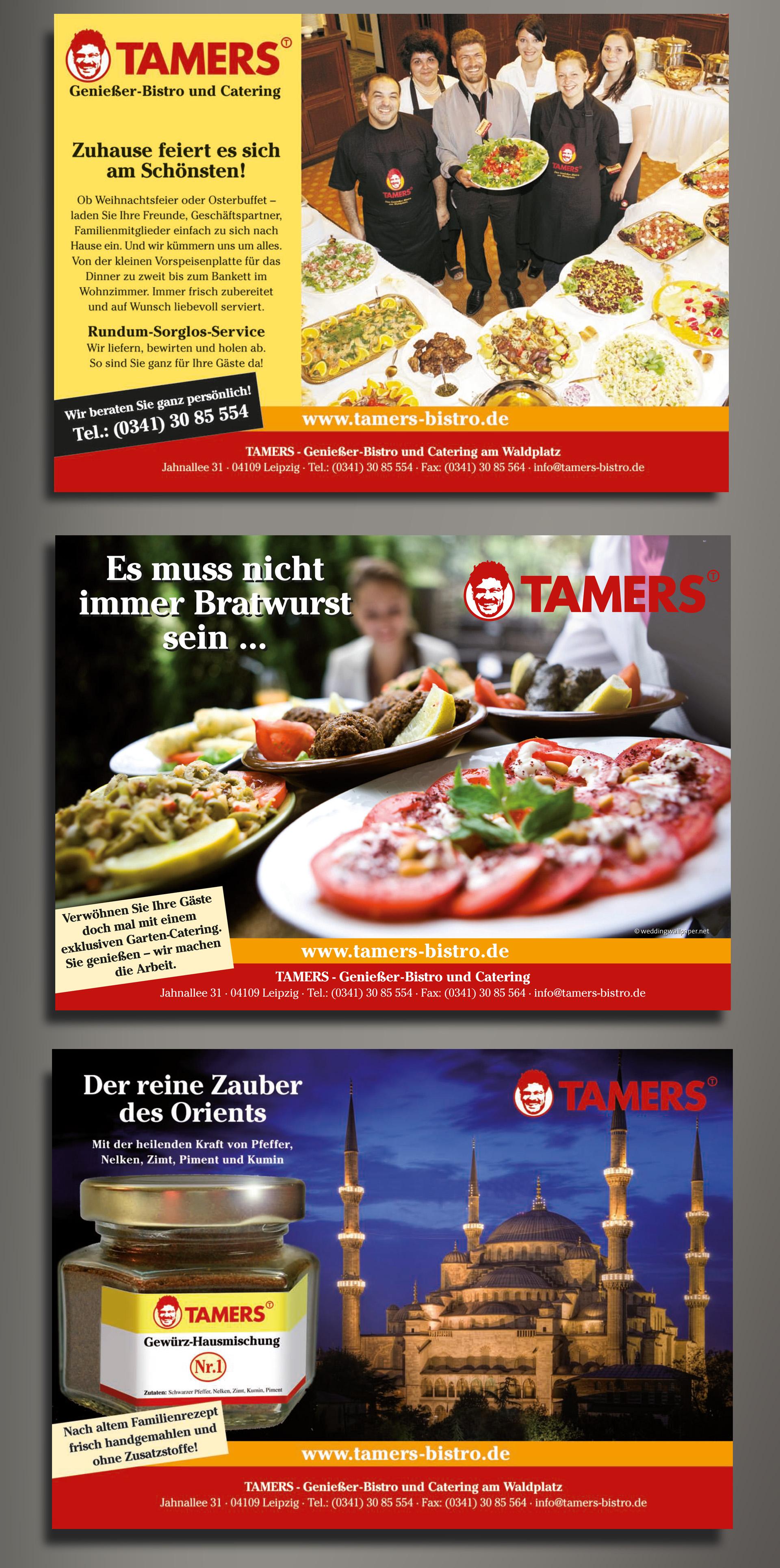 Anzeigenkampagne Tamers Bistro & Catering