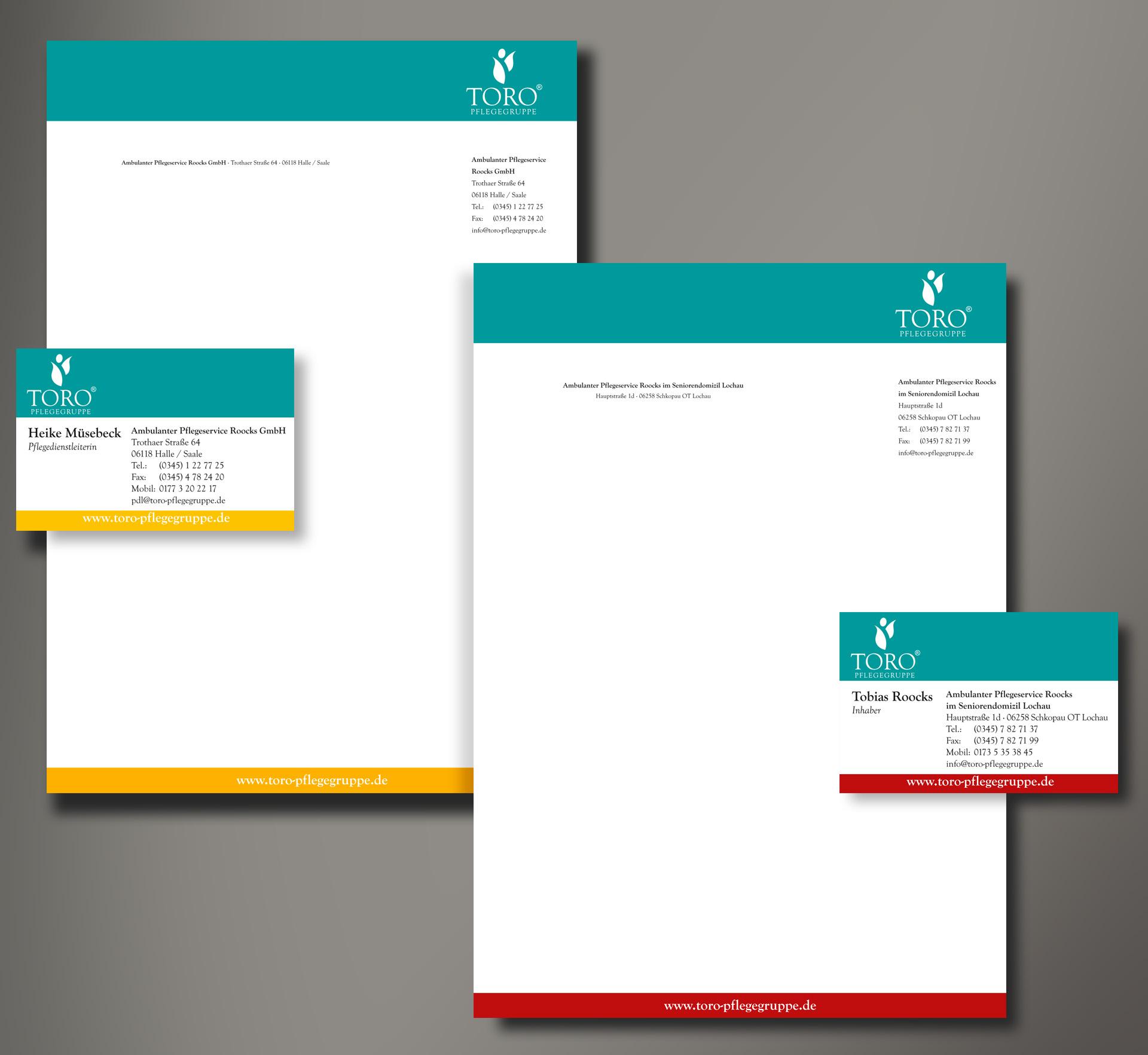 TORO Pflegegruppe Coprorate Design