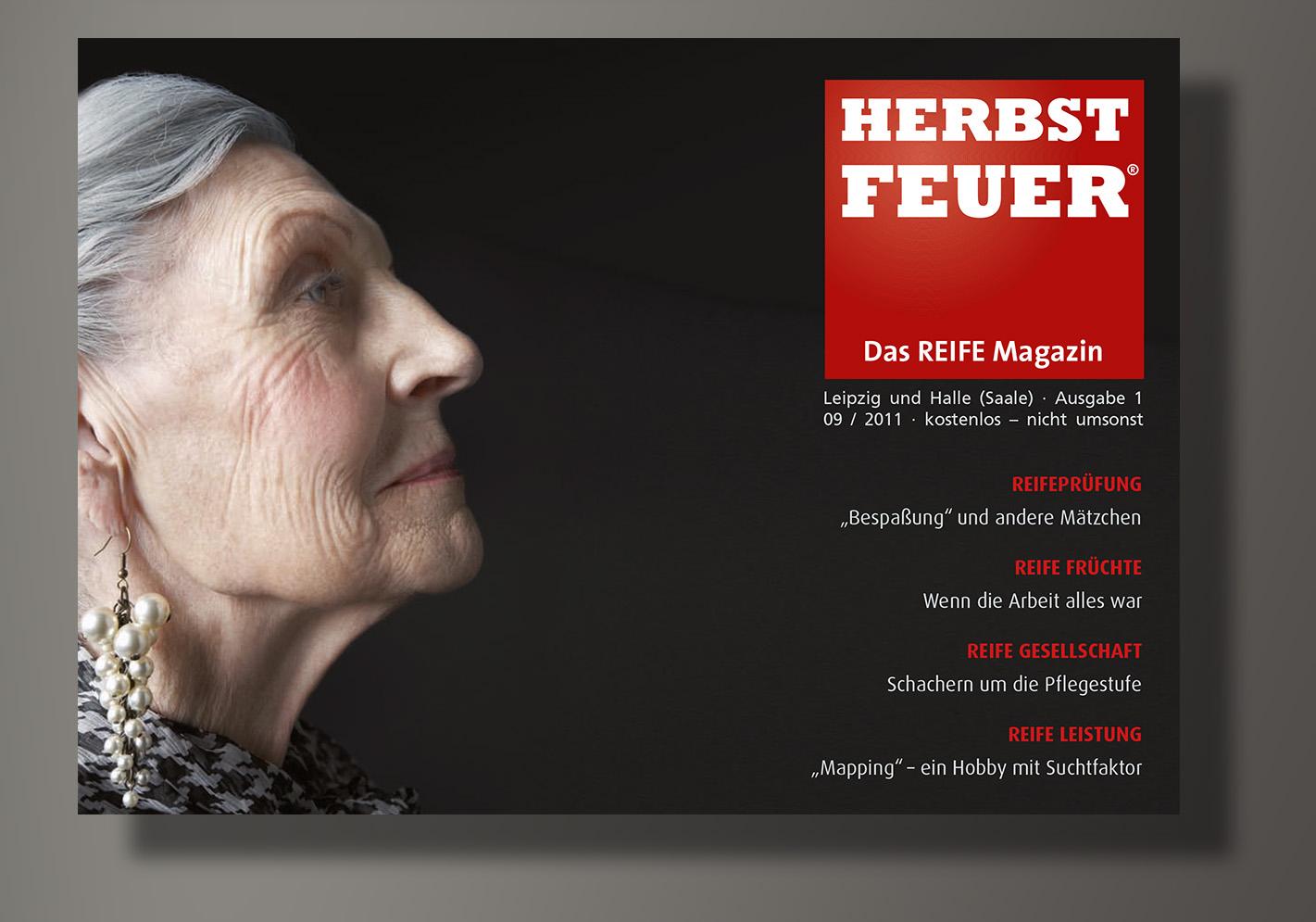 HERBSTFEUER – Das REIFE Magazin für Leipzig und Halle (Saale); Erstausgabe