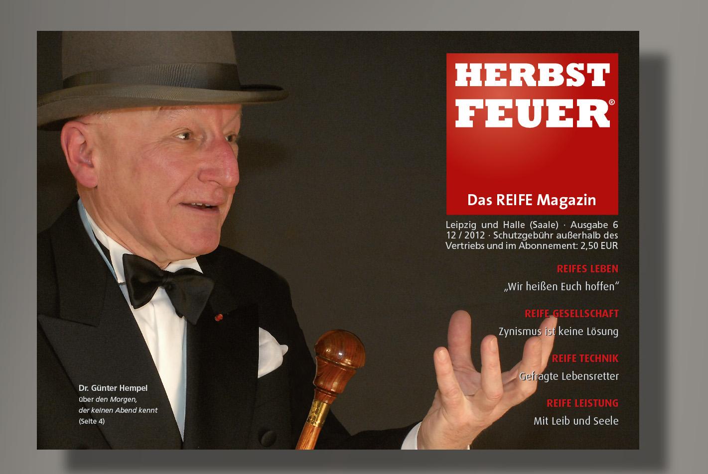 HERBSTFEUER – Das REIFE Magazin für Leipzig und Halle (Saale); Ausgabe 6