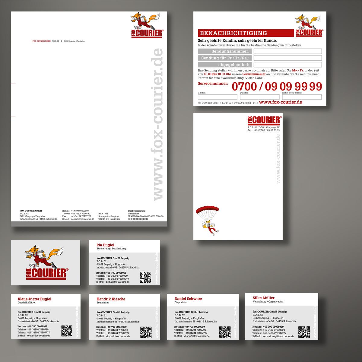 Corporate Design / Geschäftsausstattung fox COURIER GmbH
