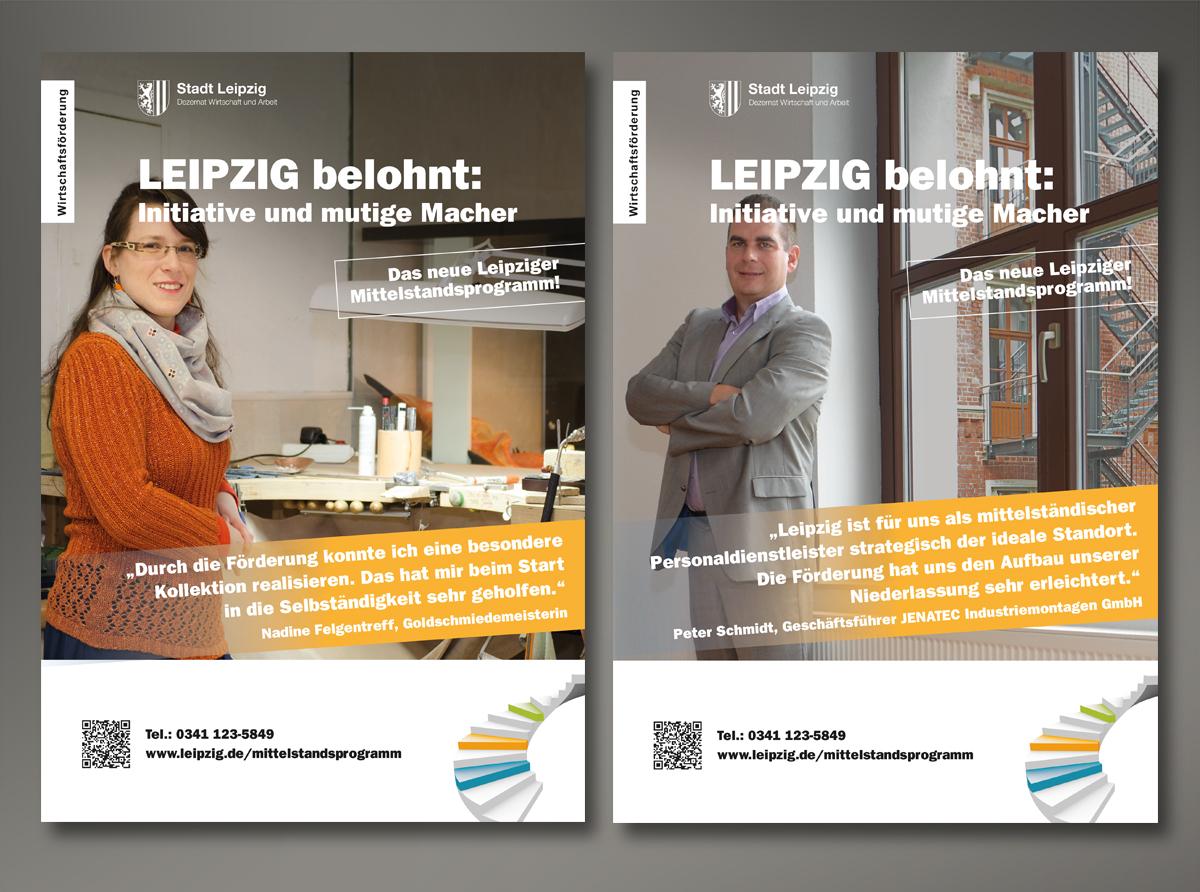 Stadt Leipzig, Plakatkampagne Mittelstandsprogramm