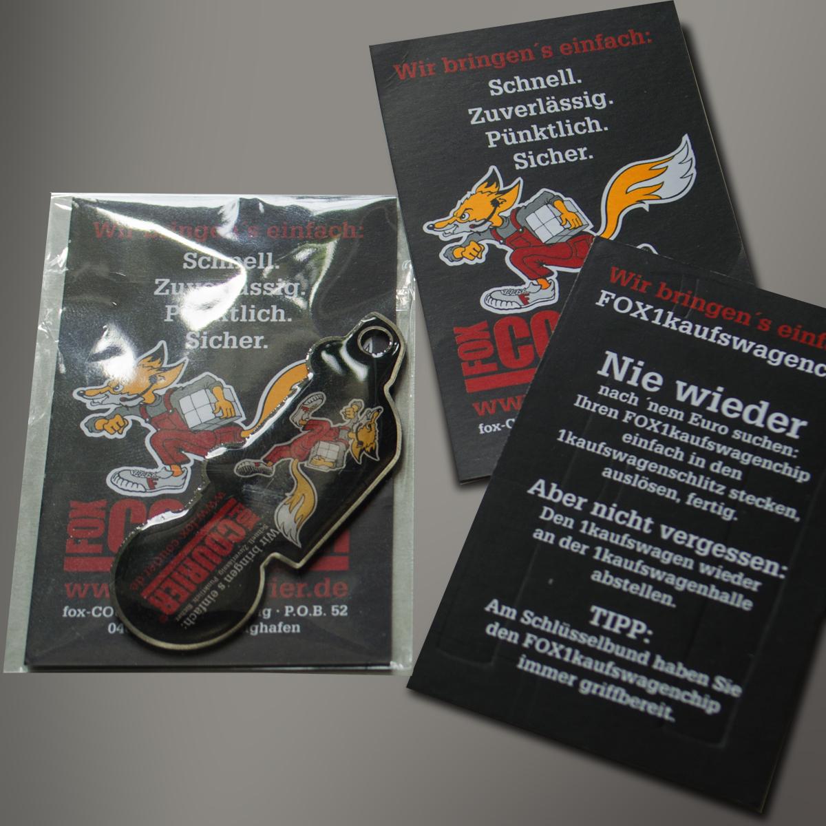 fox1kaufswagenchip, Giveaway für die fox-COURIER GmbH Leipzig von Reichelt Kommunikationsberatung